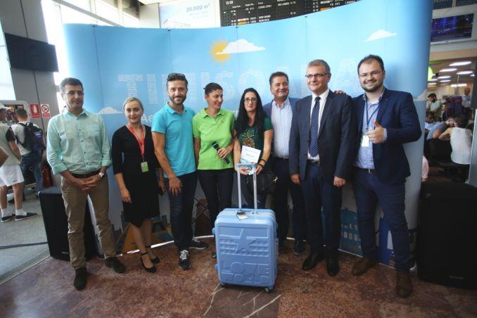 Actualitatea Pasagerul cu numarul 1.000.000 pe Aeroportul International Timisoara Lugoj 011