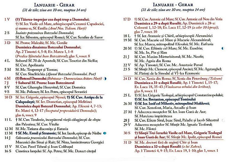 Calendar Creștin Ortodox 2021: Toate sărbătorile ...